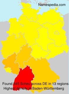 Surname Scheu in Germany