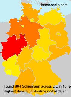 Surname Schiemann in Germany