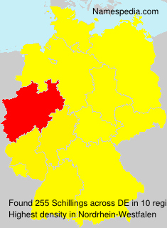 Surname Schillings in Germany