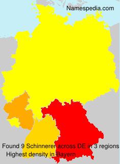 Surname Schinnerer in Germany