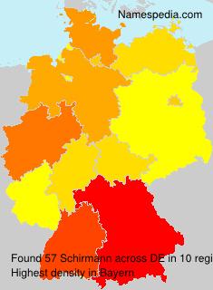 Surname Schirmann in Germany