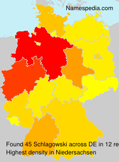 Surname Schlagowski in Germany