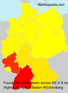 Surname Schlindwein in Germany