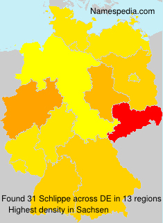 Surname Schlippe in Germany