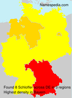 Surname Schloffer in Germany