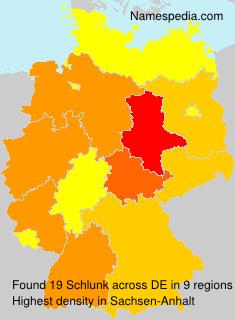 Familiennamen Schlunk - Germany