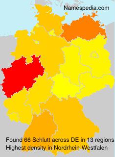 Surname Schlutt in Germany
