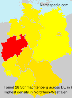 Surname Schmachtenberg in Germany