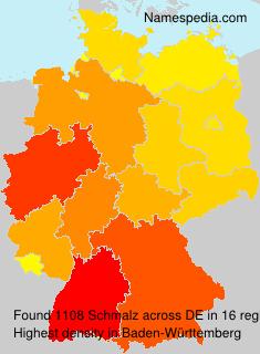 Surname Schmalz in Germany