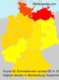 Surname Schmedemann in Germany