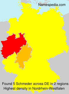 Surname Schmeder in Germany