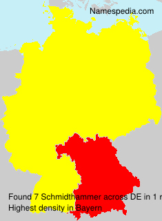 Surname Schmidthammer in Germany