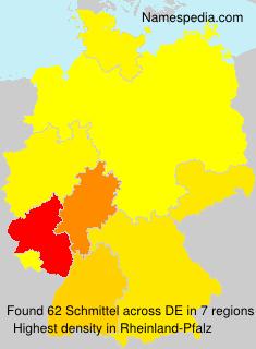 Surname Schmittel in Germany