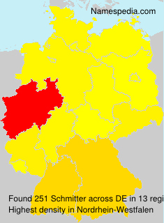 Surname Schmitter in Germany