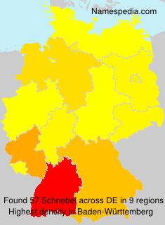 Familiennamen Schnebel - Germany