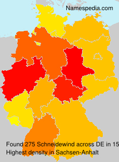 Surname Schneidewind in Germany