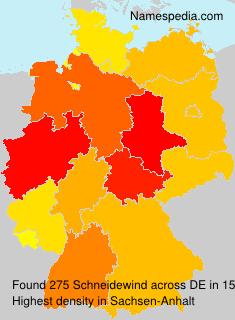 Familiennamen Schneidewind - Germany