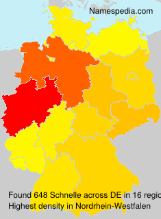 Surname Schnelle in Germany