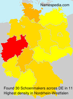 Surname Schoenmakers in Germany