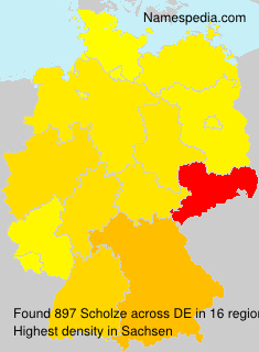 Surname Scholze in Germany