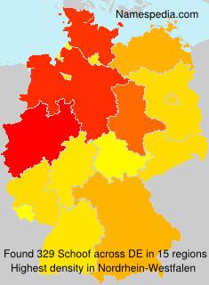 Surname Schoof in Germany