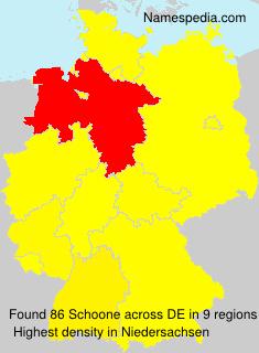 Familiennamen Schoone - Germany