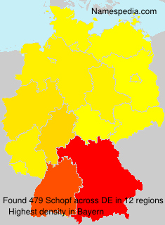 Surname Schopf in Germany