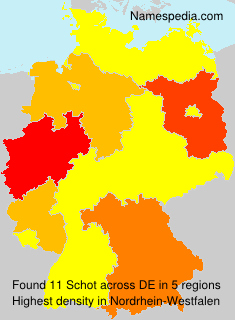 Surname Schot in Germany