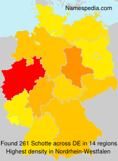 Surname Schotte in Germany