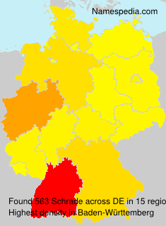 Surname Schrade in Germany