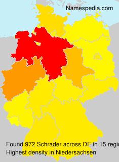Familiennamen Schrader - Germany