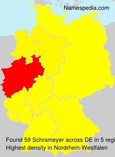 Familiennamen Schrameyer - Germany