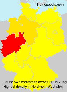 Surname Schrammen in Germany