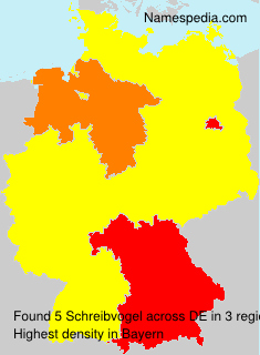 Surname Schreibvogel in Germany