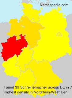 Surname Schreinemacher in Germany