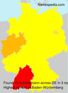 Surname Schretzmann in Germany