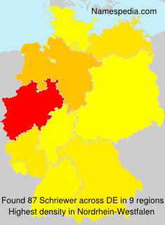 Familiennamen Schriewer - Germany