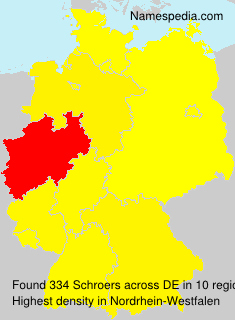 Surname Schroers in Germany