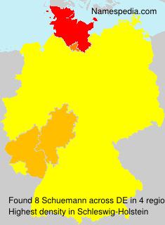 Surname Schuemann in Germany