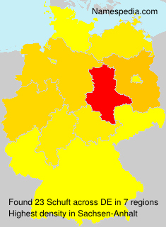 Surname Schuft in Germany