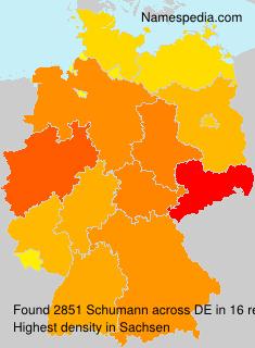 Familiennamen Schumann - Germany