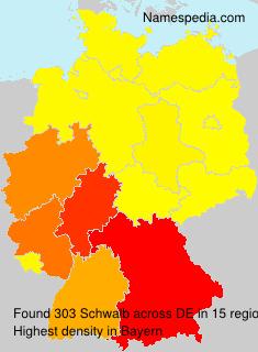 Surname Schwalb in Germany