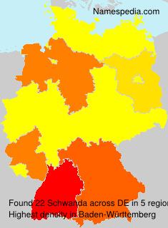 Familiennamen Schwanda - Germany