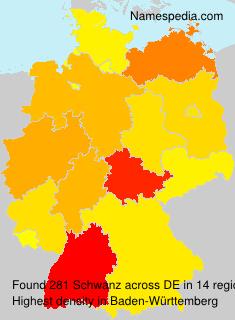 Surname Schwanz in Germany
