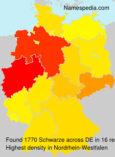 Surname Schwarze in Germany