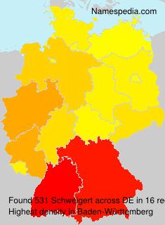 Surname Schweigert in Germany