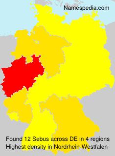 Familiennamen Sebus - Germany