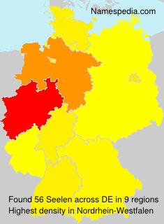 Surname Seelen in Germany