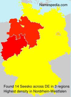 Familiennamen Seesko - Germany