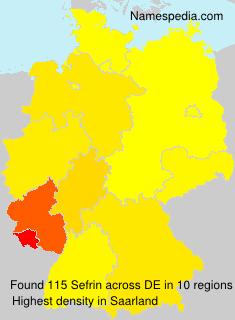 Surname Sefrin in Germany